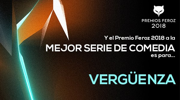 La serie VERGÜENZA se hace con el reconocimiento de los Premios Feroz 2018 a la Mejor Serie de Comedia.