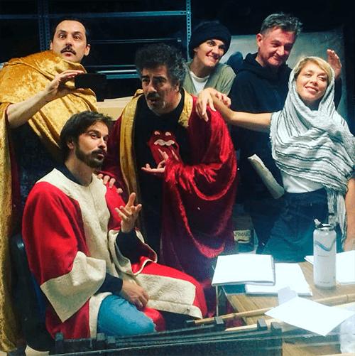 Ensayo de la obra Ben-Hur con nuestros actores Elena Lombao y Agustín Jiménez