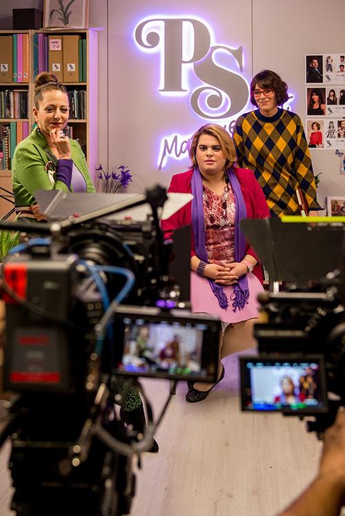Yolanda Ramos en el rodaje de la segunda temporada de la serie Paquita Salas