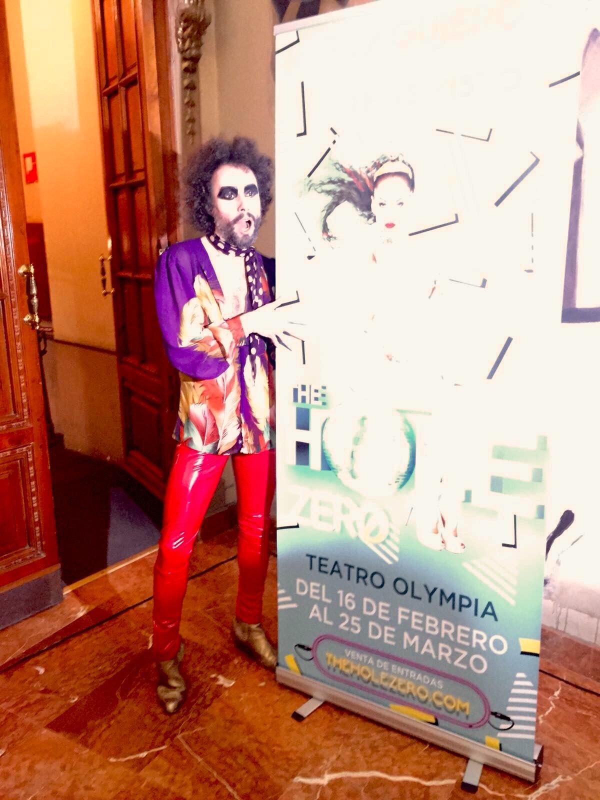 Manu Badenes en la rueda de prensa de The Hole Zero en Valencia.