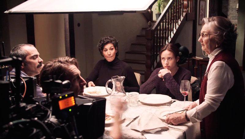 Quique Gago en un momento del rodaje de 'El Guardián Invisible'.
