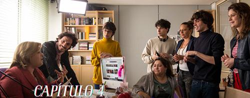Momento del rodaje del capítulo 4 con el cameo de la actriz Yolanda Ramos